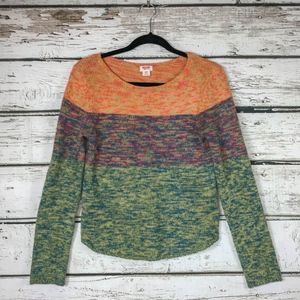 Mossimo Vintage Look Marled Multi Color Sweater M